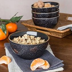 Better Homes and Gardens Burns Bowls, set of 4, Black