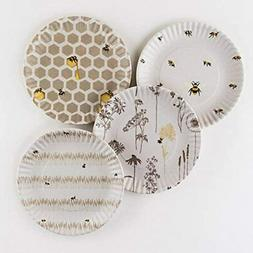 Busy Bees Melamine 9 Plates - Set Of Four Dinner