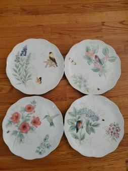 Lenox Butterfly Meadow flutter dinner plates Set Of 4  New W