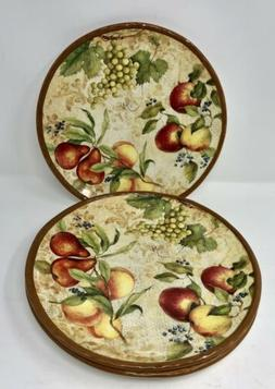 Certified International Capri Handcrafted Dinner Plates Susa