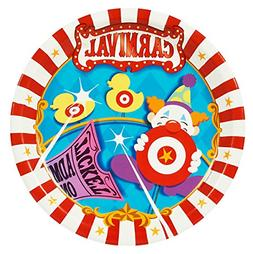 BirthdayExpress Carnival Games Party Supplies - Dinner Plate