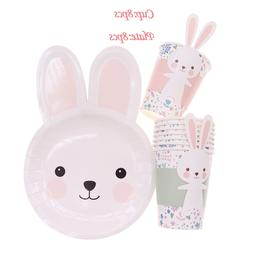 Cartoon rabbit shape paper <font><b>plate</b></font> <font><