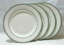 Ciroa Catena Porcelain Dinner Plates Black Chain Link Set of
