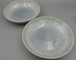 Denby China HALO Speckle Individual Pasta Bowls - Set of Two