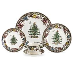 Spode Christmas Tree Grove 5-Piece Place Setting, Service fo