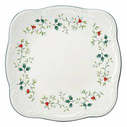 Pfaltzgraff Christmas  Winterberry Square Dinner Plate