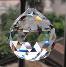 clear crystal hanging ball