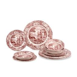 Spode Cranberry Italian 5 Piece Place Setting