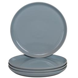 10 Strawberry Street DBL-1-LTBLU-DS Double Line Dinner Plate