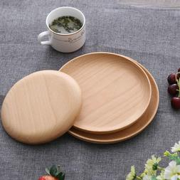 Decorative Wooden Tray Japanese Style Round Wood Tray Food S