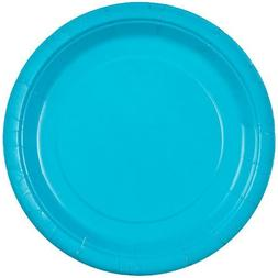 Party Dimensions 72392 9 in. Solid Island Blue High Count Pa