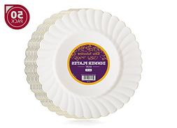 Elite Selection Pack of 50 Dinner Disposable Party Plastic P
