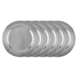 "Dinner Plate 16"" Set of 6 LOTS Stainless Steel Farmhous Vint"