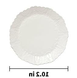Dinner Plate Accent Plates 10.2 Inch, Scalloped Embossed Bon