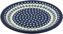 Polish Pottery Dinner Plate 11-inch Flowering Peacock