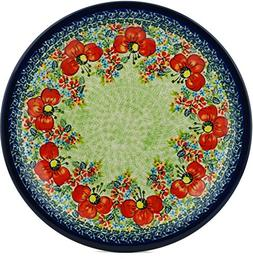 Polish Pottery Dinner Plate 11-inch Garden Meadow UNIKAT