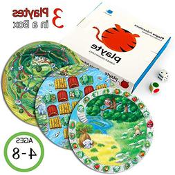 Playte - Dinner Plate Kids Game, Set Of 3 - Perfect for Diff