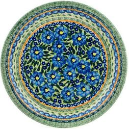 Polish Pottery Dinner Plate 11-inch Texas Poppy UNIKAT