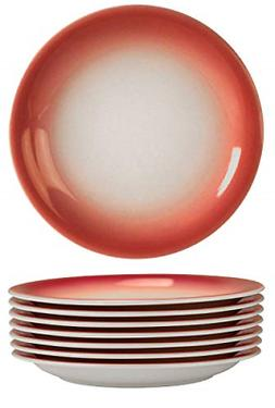 dinner plates 8 piece set ceramic red