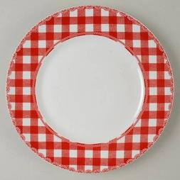 222 Fifth Home Cupboard Red Dinner Plates - Set of 4 - 11""