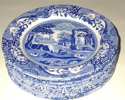 SPODE Dinnerware *BLUE ITALIAN* DINNER PLATES - SET OF 4 - M