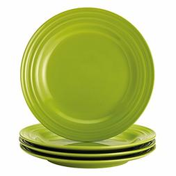 Rachael Ray Dinnerware Double Ridge 4-Piece Dinner Plate Set