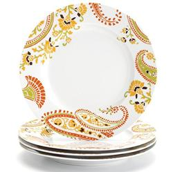 Rachael Ray Dinnerware Paisley 4-Piece Porcelain Salad Plate