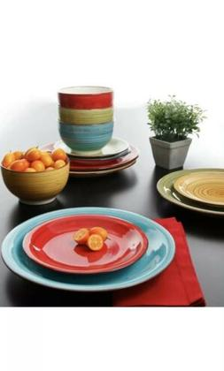 Dinnerware Set Piece Plates Kitchen Dishes Dinner Bowls 12 S
