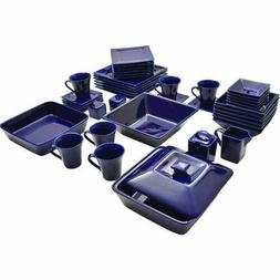 Dinnerware Set 45 Piece Square Serving Dishes Plate Bowls Mu