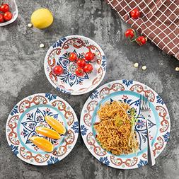 Melamine Dinnerware Set for 4-12 Pcs Melamine Dinner Dishes