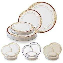 Disposable Plastic Plates Dinner Party Wedding Salad Round H