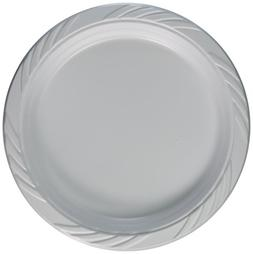 AmazonBasics Disposable Plastic Plates - 50-Pack,  10.25-inc