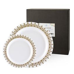 60 Count Disposable or Reusable Plastic Plates, 30 Dinner Pl