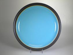 DENBY DUETS Dinner plate brown & turquoise