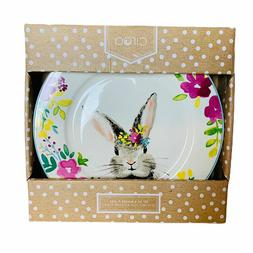 Ciroa Easter Bunny and Spring Flowers Floral Porcelain Dinne