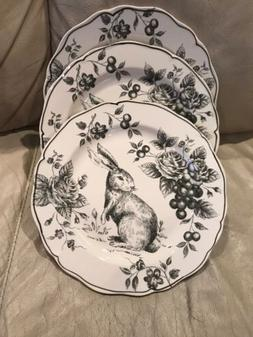 easter bunny rabbit 3 floral toile holiday