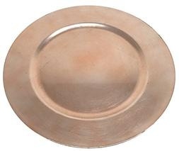 Elegant Rose Gold Weaving Pressed Design Round Charger Plate