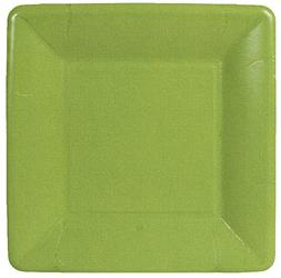 Caspari Entertaining Grosgrain Border Square Salad/Dessert P