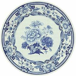 Entertaining Plates With Dinner Plates, Blue And White, 8-Pa