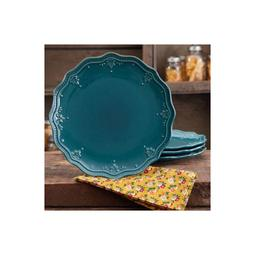 The Pioneer Woman Farmhouse Lace Dinner Plate Set 4-Pack OCE