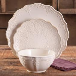 The Pioneer Woman Farmhouse Lace Dinnerware Set, 12-Piece -