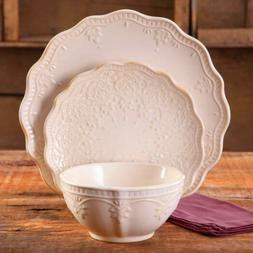 The Pioneer Woman Farmhouse Lace Dinnerware Set 12 Piece - L