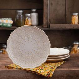 The Pioneer Woman Farmhouse Lace Salad Plate Set, 4-Pack - L