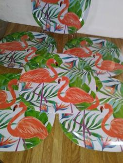 "Flamingo Melamine 11"" Dinner Plates Set of 6"