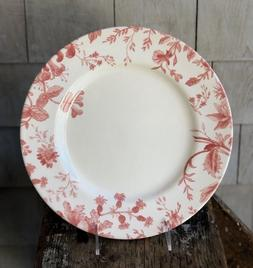 floral weave red dinner plates england set