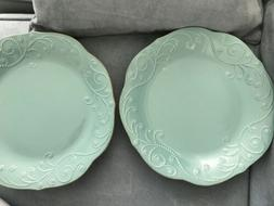 Lenox French Perle Robin's Egg Blue Dinner Plates Set of 2NW
