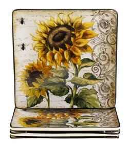french sunflowers dinner plate 10 5 inch