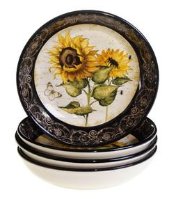 Certified International French Sunflowers Soup/Pasta Bowl, 9