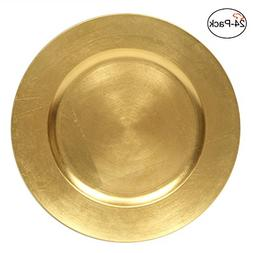 Tiger Chef 13-Inch Gold Metallic Charger Plates, Set of 2,4,