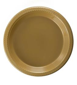 Gold Plastic Disposable Plates -Luncheon Dinner Party Premiu